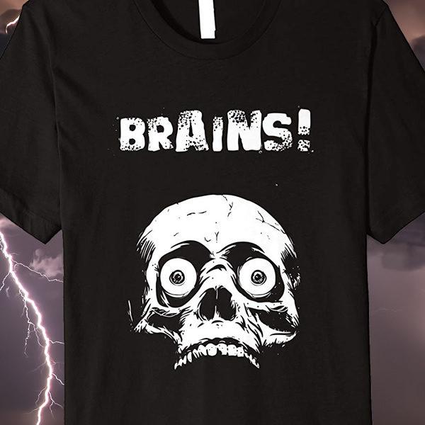 Living Dead Zombie Halloween T-shirt Brains